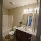 Bathroom in a custom Chianti by Design Homes and Development.