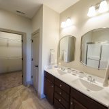 Master bathroom in a custom Chianti by Design Homes and Development.
