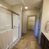 Master bathroom in a custom Chianti by Design Homes and Development.