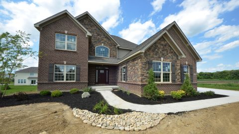 Custom of Exterior of home in Yearling Farms, Lot 15.