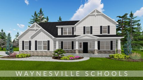 Custom exterior rendering of The Lexington. By Design Homes & Development.