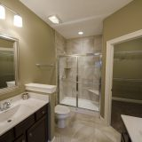 The Sheffield's master bathroom. A custom condo by Design Homes & Development.