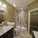 The Sheffield's master bathroom. A custom condo by Design Homes & Development.