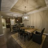 The Sheffield's dining room. A custom condo by Design Homes & Development.