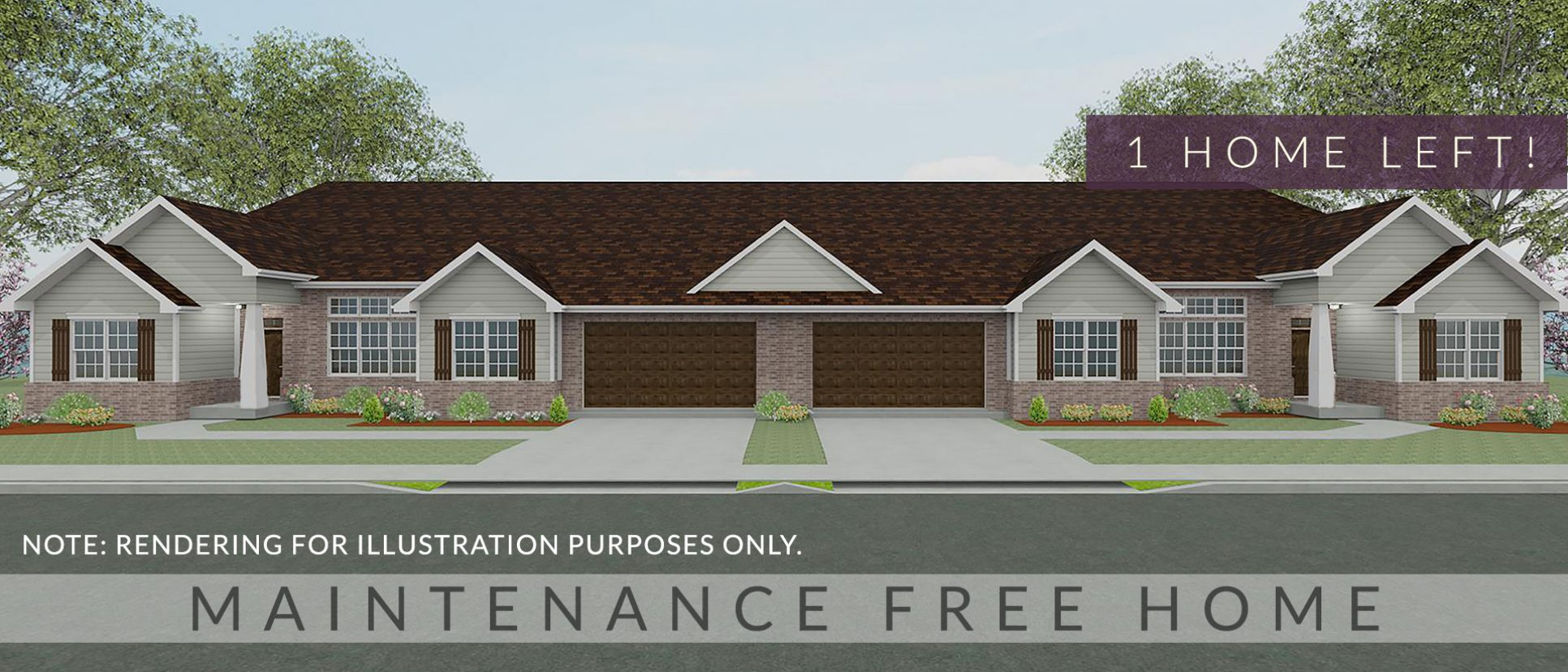 Exterior rendering of The Sheffield. A condo in Soraya Farms, custom built by Design Homes and Development.