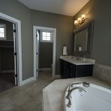 Custom master bathroom in The Shiloh by Design Homes & Development.