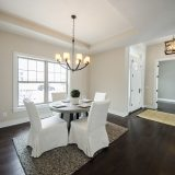 Custom dining room in The Shiloh by Design Homes & Development.