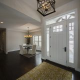 Custom entry in The Shiloh by Design Homes & Development.