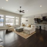 Custom great room in The Shiloh by Design Homes & Development.