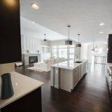 Custom kitchen in The Shiloh by Design Homes & Development.