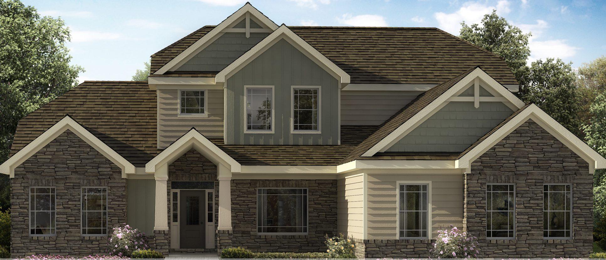 Custom rendering of Lot 49, The Triple Crown in Design Homes owned Bridle Creek Ranch.