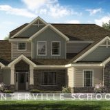 Custom exterior of The Triple Crown. A market ready home located in Bridle Creek Ranch by Design Homes and Development.