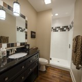 A custom bathroom by Design Homes.