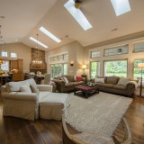 A custom great room by Design Homes.