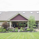 A custom craftsman exterior by Design Homes.