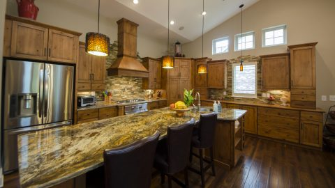 Custom kitchen in the Trails of Saddle Creek.