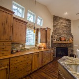 A custom kitchen by Design Homes.