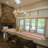 A custom dining area by Design Homes.