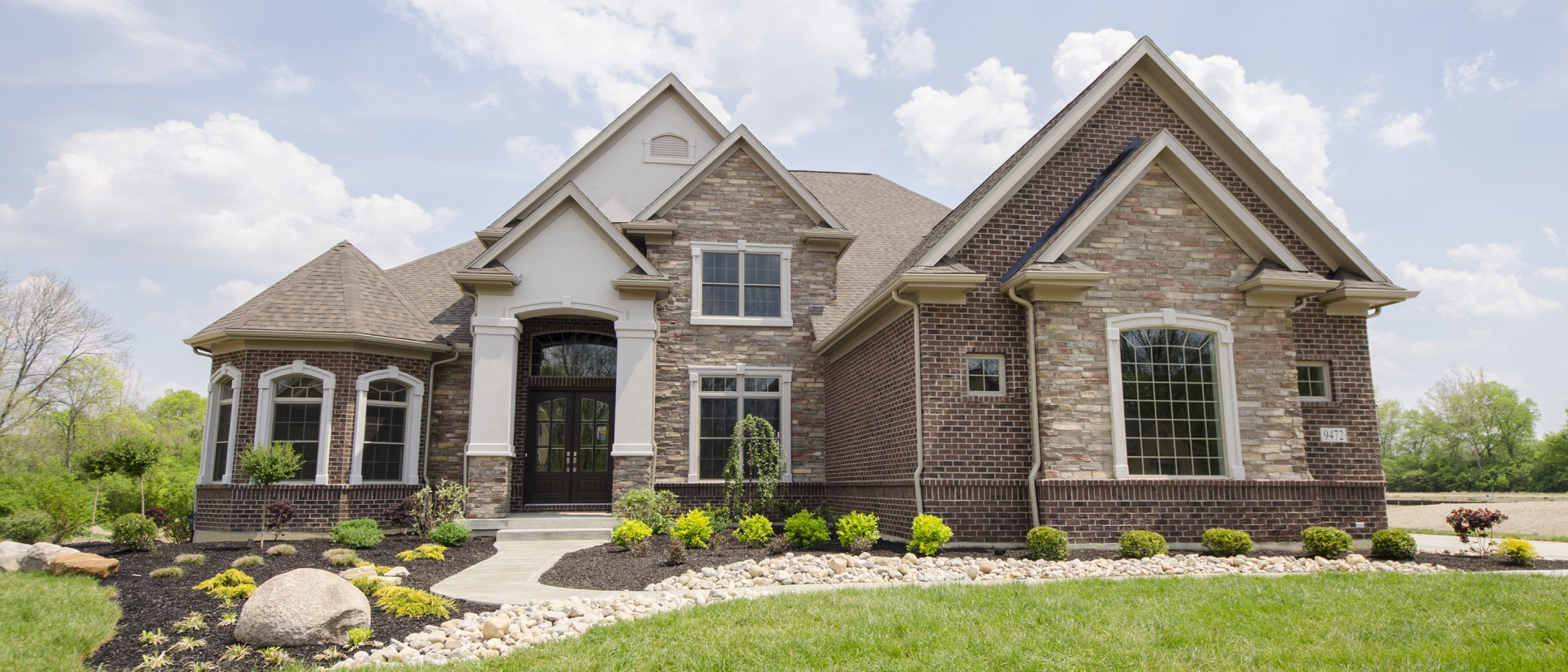 The leah centerville ohio design homes for Stone and brick home designs