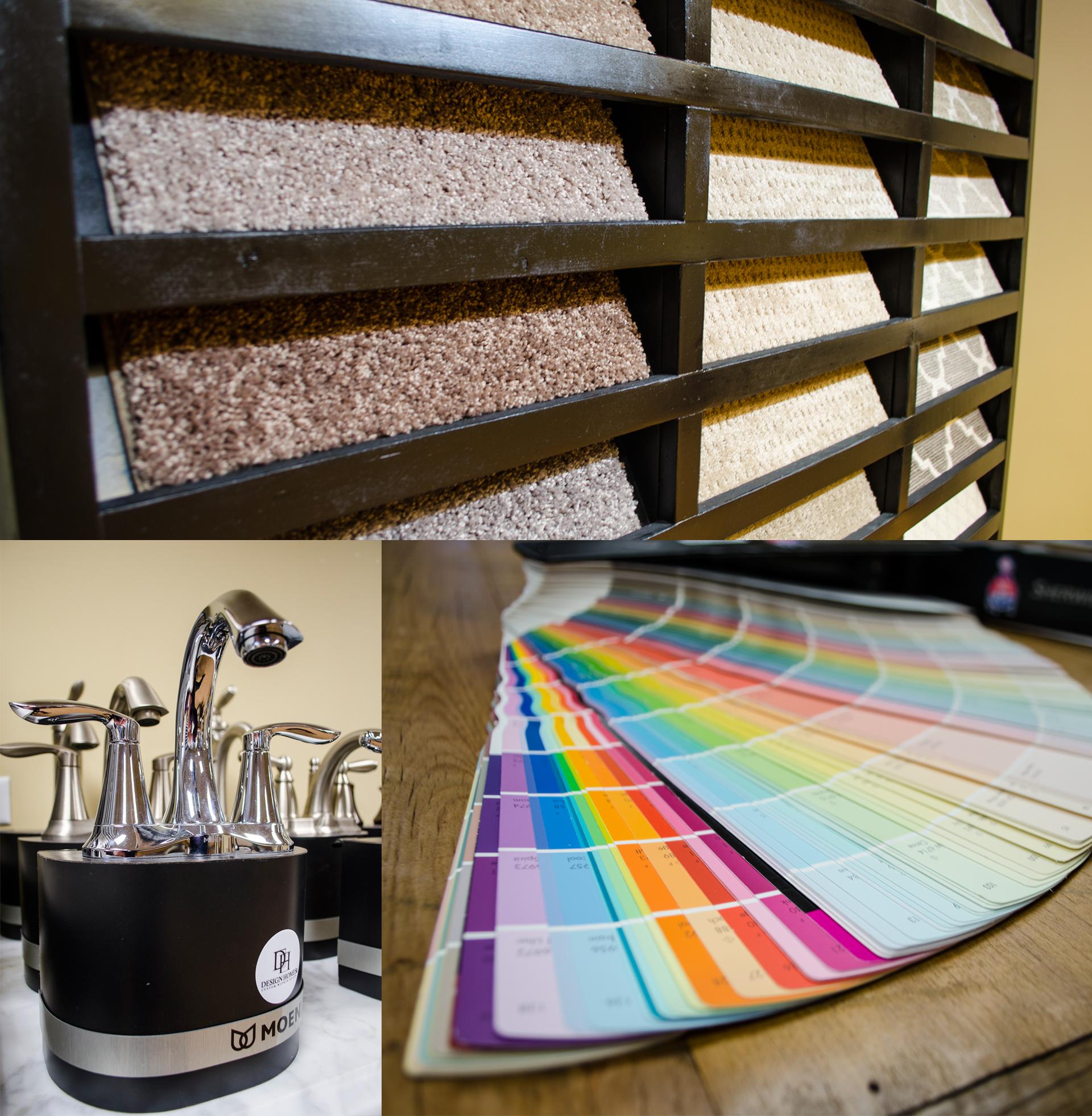Design Homes design center for your custom home selections.