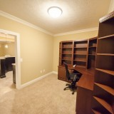 Custom office in a home in Soraya Farms. Built by Design Homes.