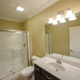 Custom bathroom in a home in Soraya Farms. Built by Design Homes.