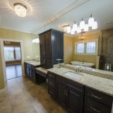 Custom master bath in a home in Soraya Farms. Built by Design Homes.