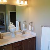 Custom bathroom by Design Homes.