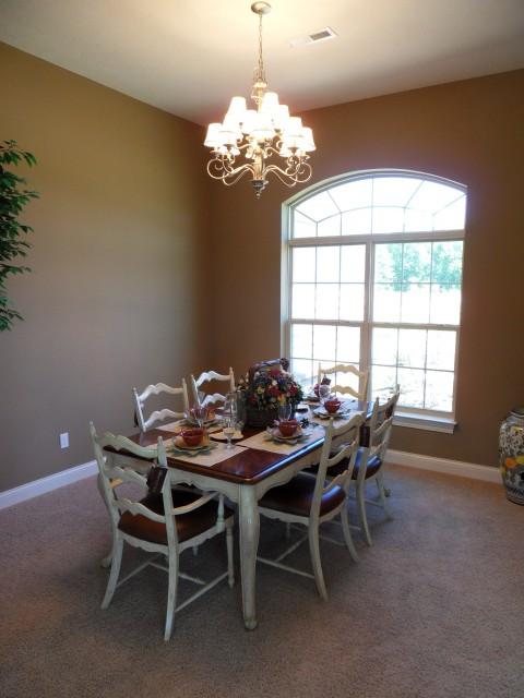 Custom dining room by Design Homes.