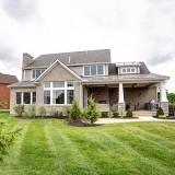 Custom exterior by Design Homes.