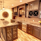 Custom basement by Design Homes.