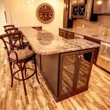 Custom basement by Design Homes.