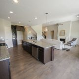 Custom kitchen in The Brighton. A move-in ready home by Design Homes and Development.