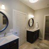 Custom master bathroom in The Brighton. A move-in ready home by Design Homes and Development.