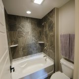 Custom bathroom in The Charleston. A move-in ready home by Design Homes and Development.