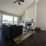 Custom great room in The Charleston. A move-in ready home by Design Homes and Development.