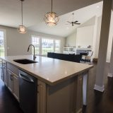 Custom kitchen in The Charleston. A move-in ready home by Design Homes and Development.