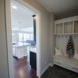 Custom mud hall in The Charleston. A move-in ready home by Design Homes and Development.