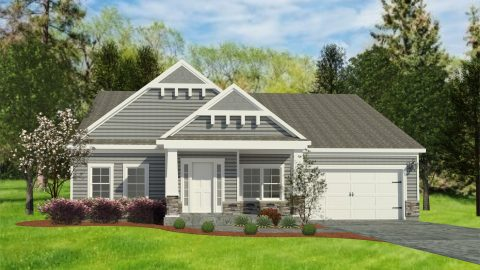 Custom rendering of the Charlotte. A standard plan by Design Homes and Development.