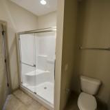 Custom master bathroom by Design Homes in the Chianti.