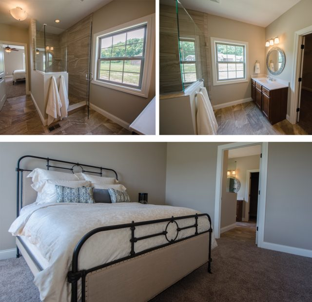 Custom master suite in The Jackson.