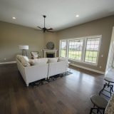 Custom great room in the Jackson. A custom move-in ready home by Design Homes and Development.