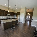 Custom kitchen in the Jackson. A custom move-in ready home by Design Homes and Development.