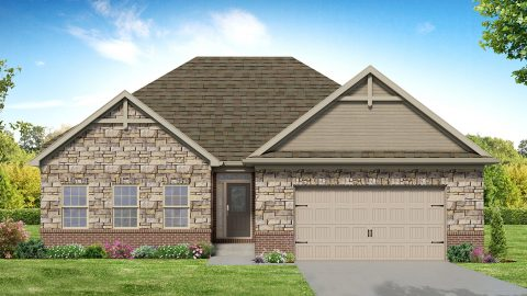Custom rendering of the Jackson. A standard plan by Design Homes & Development.