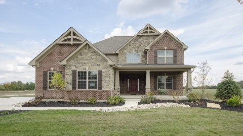 The Karilynn's custom exterior by Design Homes.