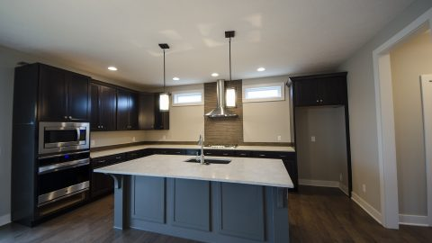 Custom kitchen in The Kendall, built by Design Homes & Development.