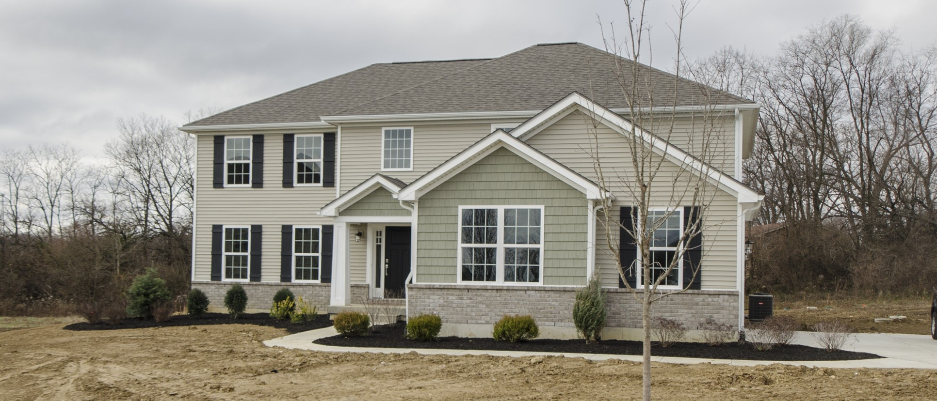 A custom exterior of The Marlena by Design Homes.