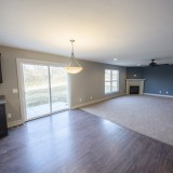 Custom nook and family room by Design Homes in the Marlena.