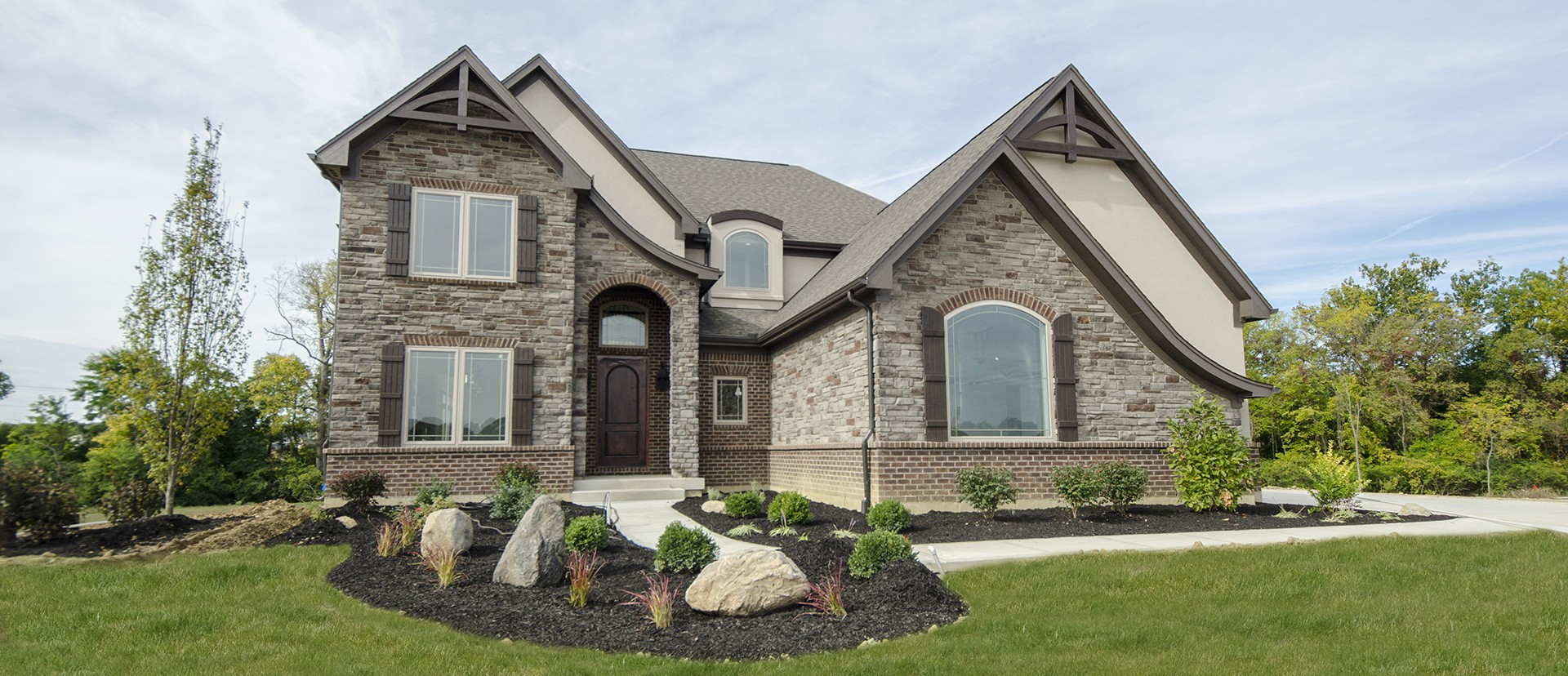 The Reese's custom exterior by Design Homes.