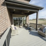 Custom composite deck by Design Homes.